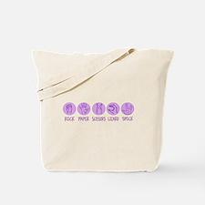 Rock, Paper, Scissors, Lizard Tote Bag