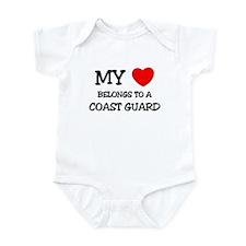My Heart Belongs To A COAST GUARD Infant Bodysuit