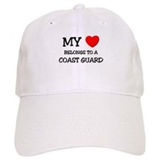 My Heart Belongs To A COAST GUARD Baseball Cap