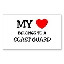 My Heart Belongs To A COAST GUARD Decal
