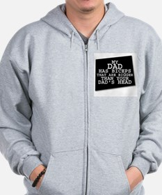 Funny Weight lifting Zip Hoodie