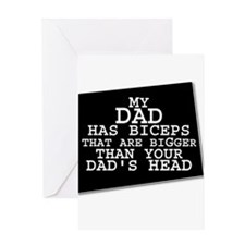 My_Dads_BICEPS_HR Greeting Cards