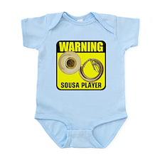 Warning: Sousa Player Infant Bodysuit