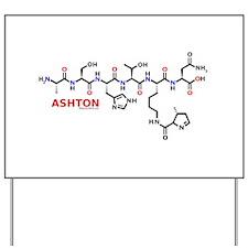 Ashton name molecule Yard Sign