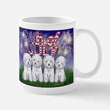 4th of July Westies Mug