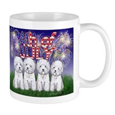 4th of July Westies Mug