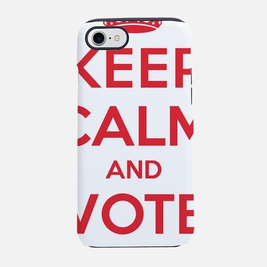 Keep Calm Vote Bernie iPhone 7 Tough Case