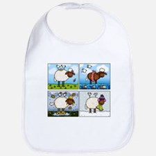 Sheep of All Seasons Bib
