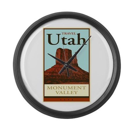 Travel Utah Large Wall Clock