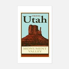 Travel Utah Rectangle Decal