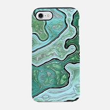 Cute Mint green camo iPhone 7 Tough Case