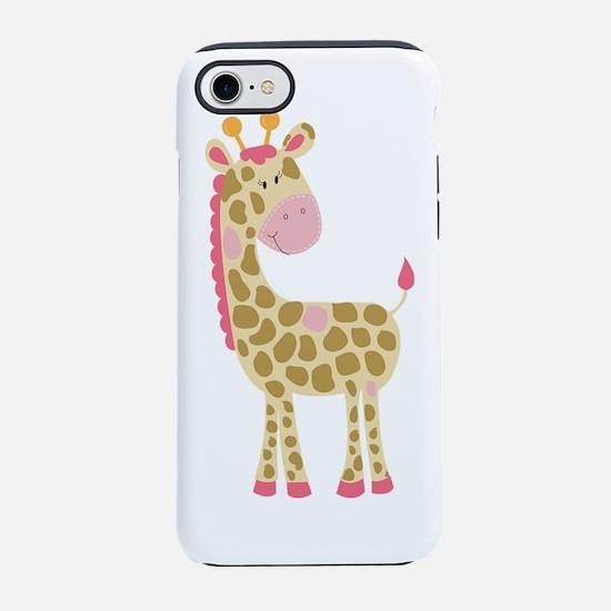 Jungle Jill Giraffe Pink iPhone 7 Tough Case