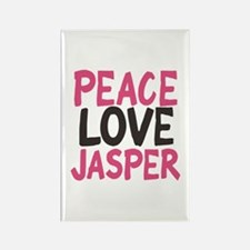 Peace, Love, Jasper Rectangle Magnet