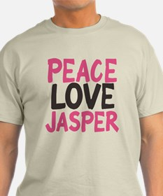 Peace, Love, Jasper T-Shirt