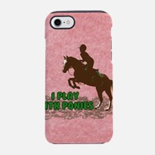 Cute Plays horses iPhone 7 Tough Case