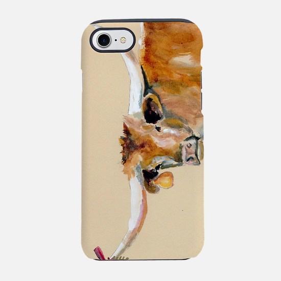 Long Horn Christmas iPhone 7 Tough Case