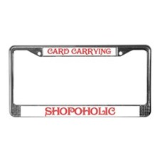 Card Carrying Shopoholic License Plate Frame