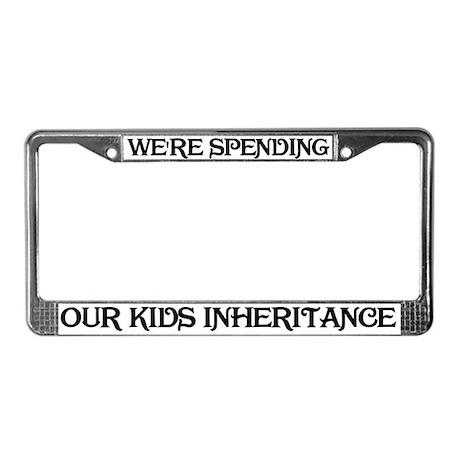 Our Kids Inheritance License Plate Frame