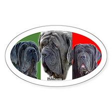 Oval Sticker of Magnufi Mastini