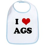I Love AGS Bib