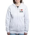 I Love AGS Women's Zip Hoodie