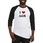 I Love AGS Baseball Jersey