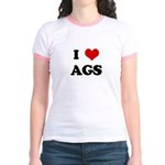 I Love AGS Jr. Ringer T-Shirt
