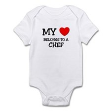 My Heart Belongs To A CHEF Infant Bodysuit