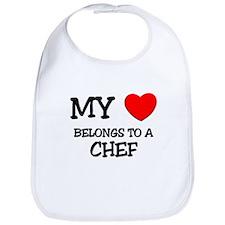 My Heart Belongs To A CHEF Bib
