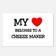 My Heart Belongs To A CHEESE MAKER Postcards (Pack