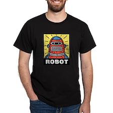Retro Robot Black T-Shirt