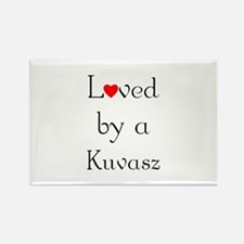 Loved by a Kuvasz Rectangle Magnet