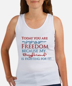Today you are enjoying your F Women's Tank Top