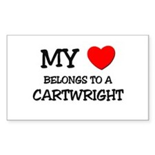 My Heart Belongs To A CARTWRIGHT Decal
