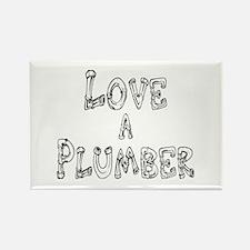 Love a Plumber Rectangle Magnet