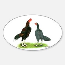 Thailand Gamefowl Oval Decal