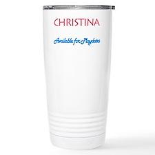 Christina - Available For Pla Travel Mug