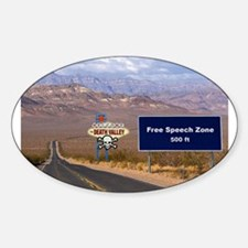 Death Valley Free Speech Oval Decal