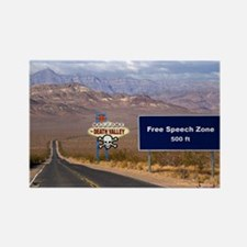 Death Valley Free Speech Rectangle Magnet