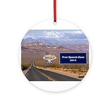 Death Valley Free Speech Ornament (Round)