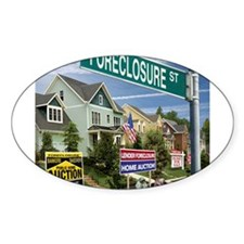 Foreclosure Street Oval Decal