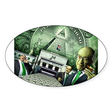 Pyramid Scheme Oval Sticker