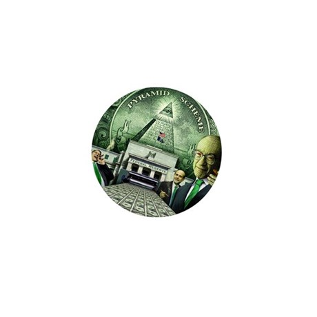 Pyramid Scheme Mini Button (10 pack)