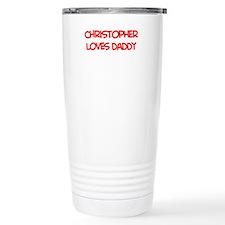 Christopher Loves Daddy Travel Coffee Mug