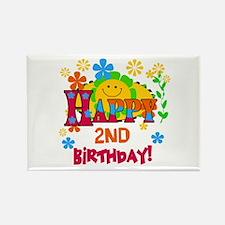 Joyful 2nd Birthday Rectangle Magnet