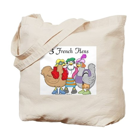 3 French Hens Tote Bag
