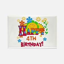 Joyful 4th Birthday Rectangle Magnet