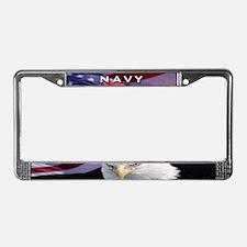 Navy & Eagle - License Plate Frame