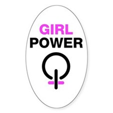 Girl Power Oval Decal