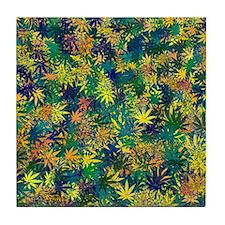 Pot Leaf Tile Coaster